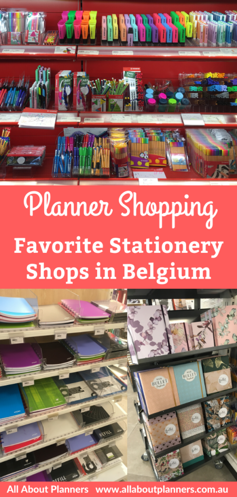 favorite stationery shops in belgium bruges brussels antwerp discbound atoma planner pens bullet journal notebooks review