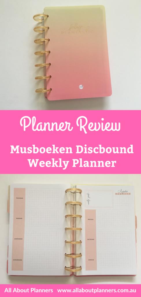 musboeken weekly planner review discbound horizontal monday start alternative to mambi european discbound