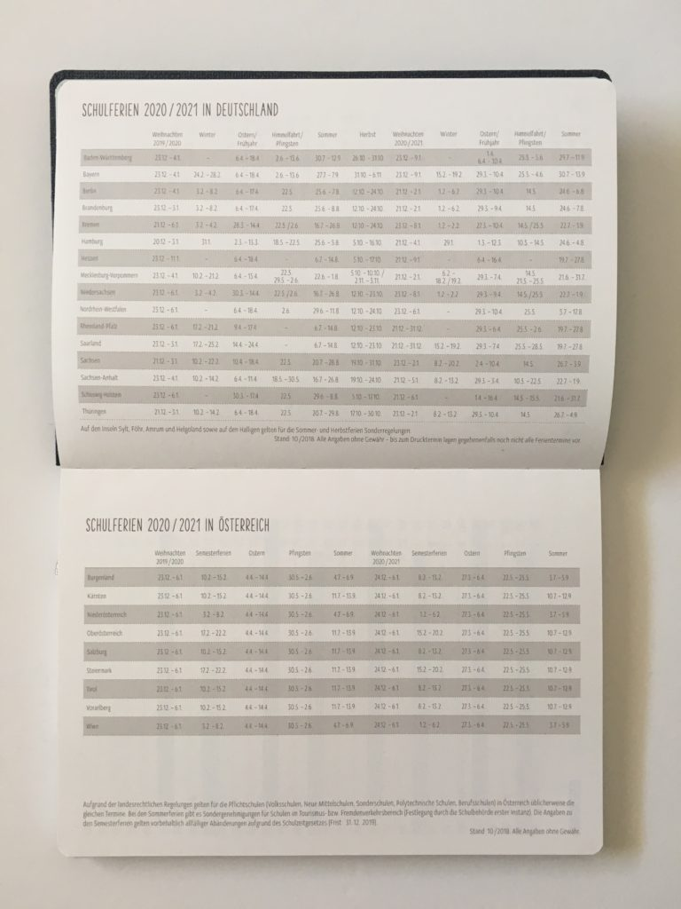 nature art termin planner review dates at a glance german