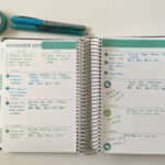 Purple Trail Weekly Spread (Green, Blue & Teal theme)