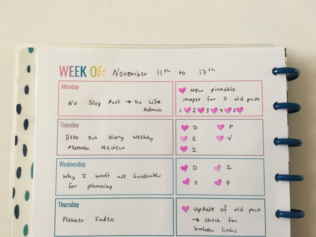 rainbow weekly planner monday start blogging 1 page weekly spread ideas inspiration