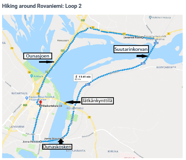 rovaniemi walking trail itinerary 3 days in lapland