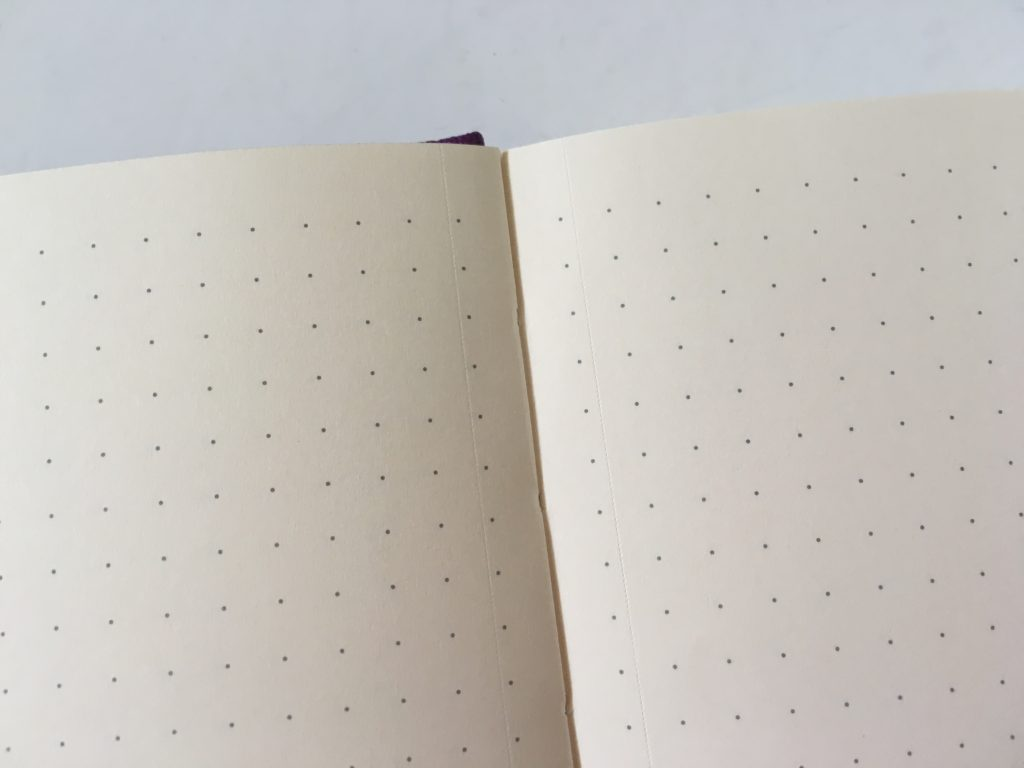 Dingbats dot grid notebook review bullet journal bujo smooth cream paper_04