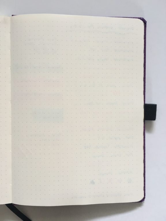 Dingbats dot grid notebook review bullet journal bujo smooth cream paper_12