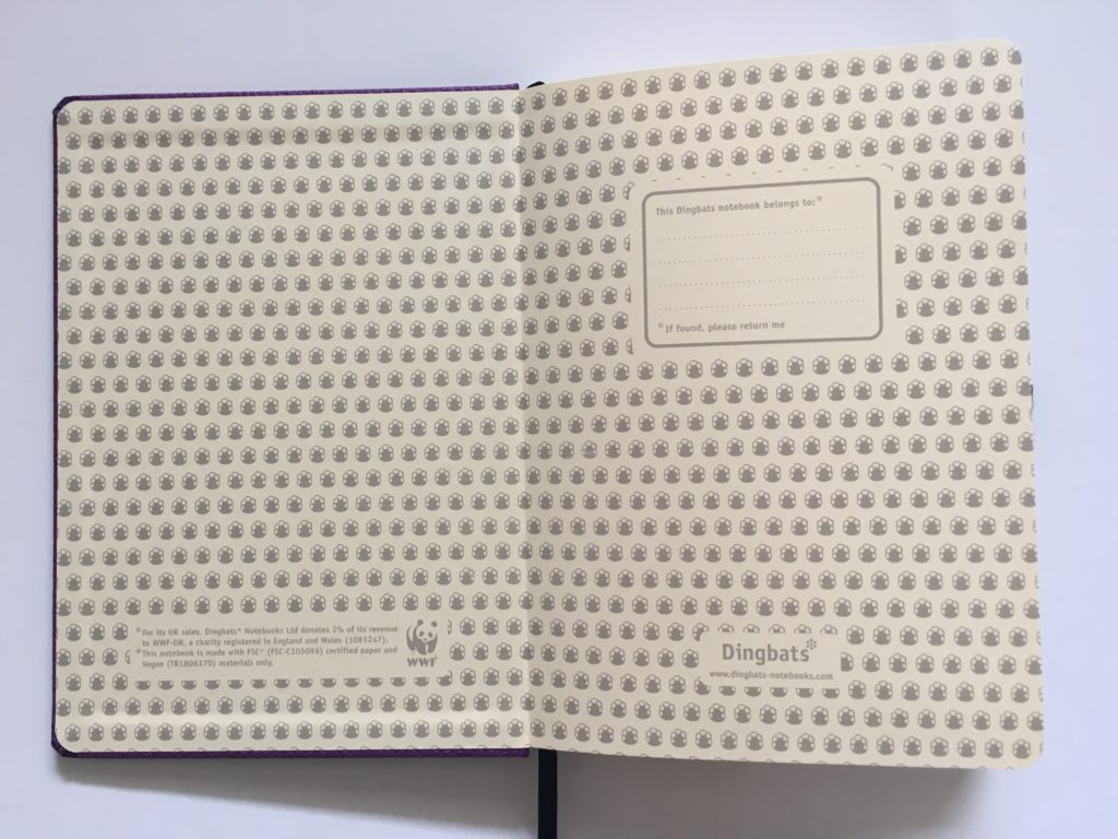 Dingbats dot grid notebook review bullet journal bujo smooth cream paper_16