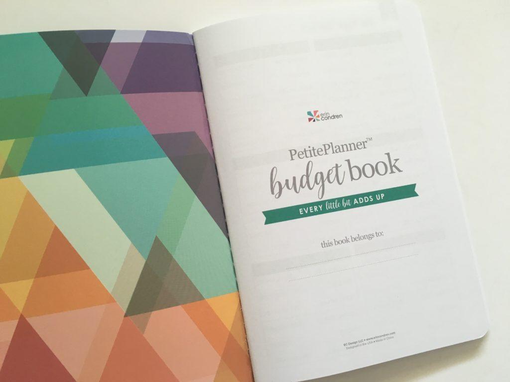 Erin Condren Budget Book Review 2020