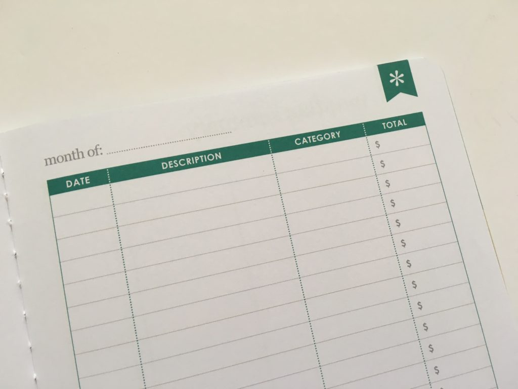 Erin Condren Budget Book Review monthly spending summary expenses tracker