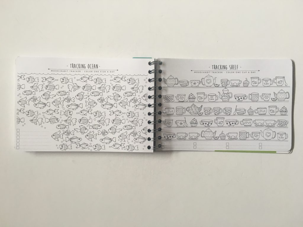 Personal planner weekly planner review adult coloring in habit tracker