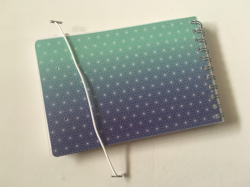 Personal planner weekly planner review back cover elastic band