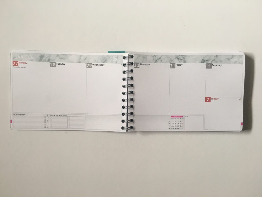 Personal planner weekly planner review horizontal vertical weekly spread you choose layout completely custom monday week start habit tracker