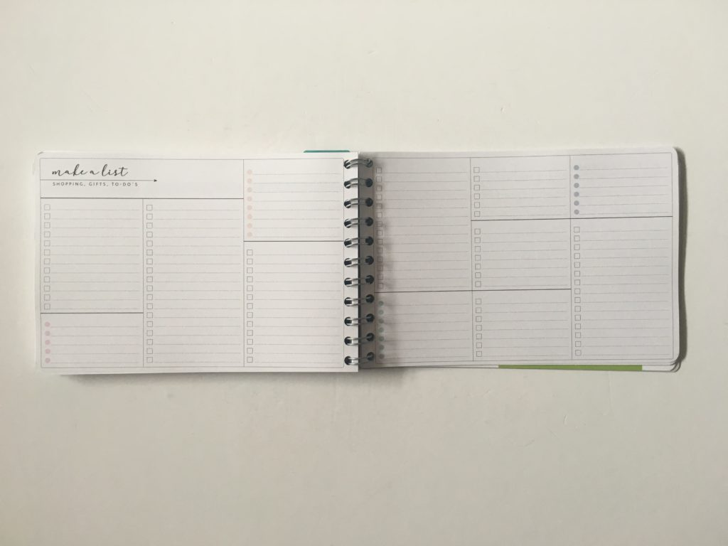Personal planner weekly planner review list add on pages