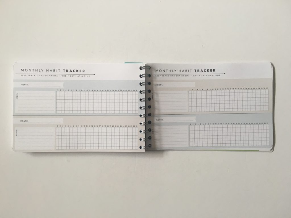 Personal planner weekly planner review monthly habit tracker routine spending sleep eating