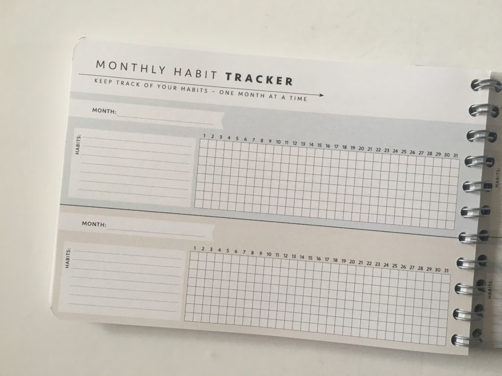 Personal planner weekly planner review montly habit tracker routines