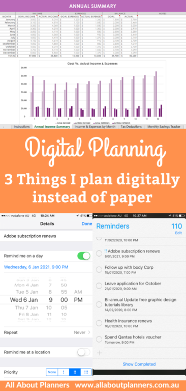 digital planning prefer to use instead of paper reminders app on iphone excel for budgeting an annual overview alternative