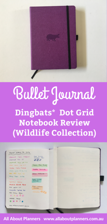 dingbats dot grid notebook review purple hippo wildlife collection a5 page size super smooth paper pen testing ghosting paper quality