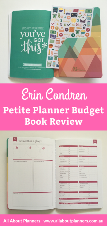 erin condren petite planner budget book review pros and cons video rainbow pen testing
