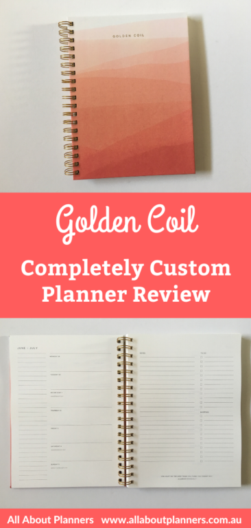 golden coil custom weekly planner review personalised weekly daily monthly add on pages you choose the cover design video review pen testing