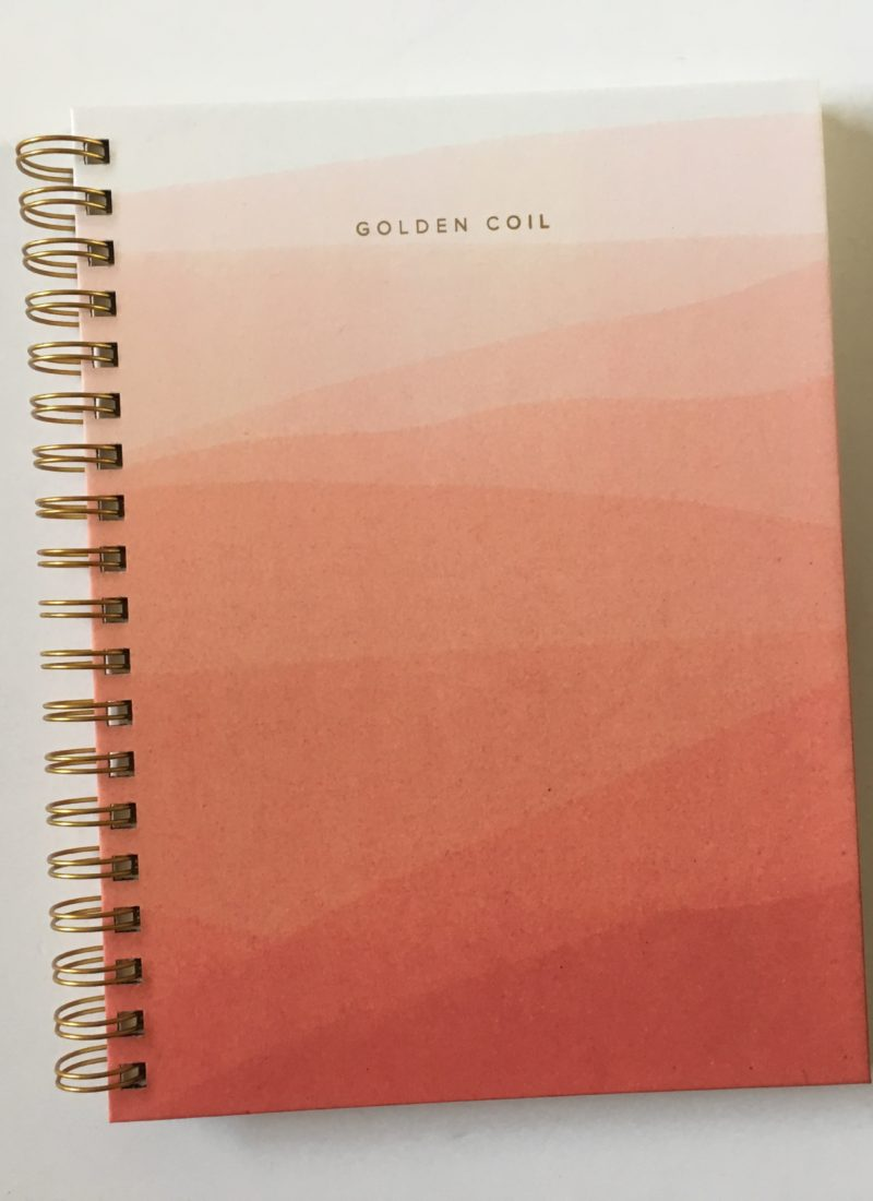 Golden Coil Weekly Planner Review (custom planner – you choose the cover & inside pages)