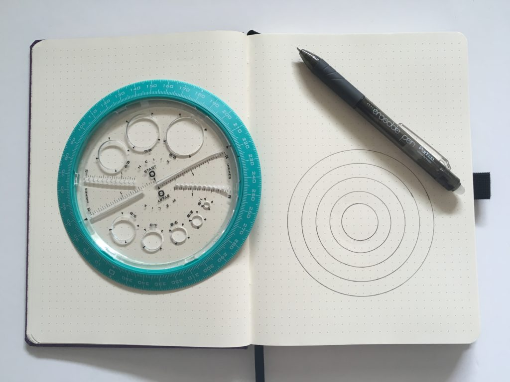 helix circle maker for bullet journaling essentials tools tips gadgets bujo inspiration layout weekly spread make a mood tracker monthly habit tracker