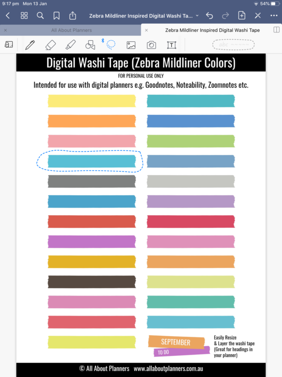 how to crop a planner sticker sheet in goodnotes lasso tool select individual planner stickers all about planners tutorial