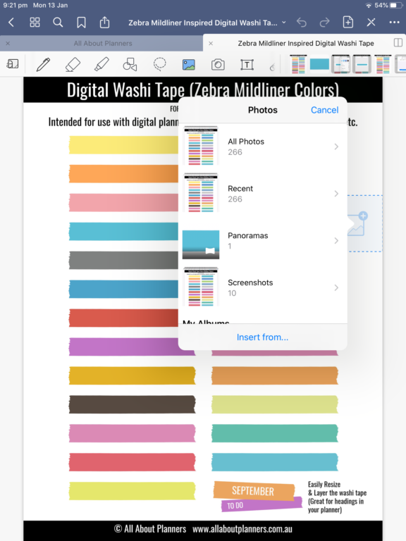 how to crop items from a page in goodnotes to make your own diy stickers indiviudal png