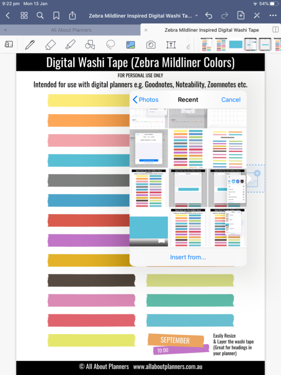 how to make planner sticker for goodnotes cropping tool take a screenshot individual stickers png