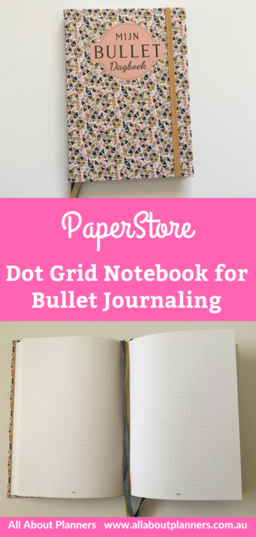 paperstore dot grid notebook for bullet journaling from belgium bright white paper sewn bound pages review video pen testing pros and cons