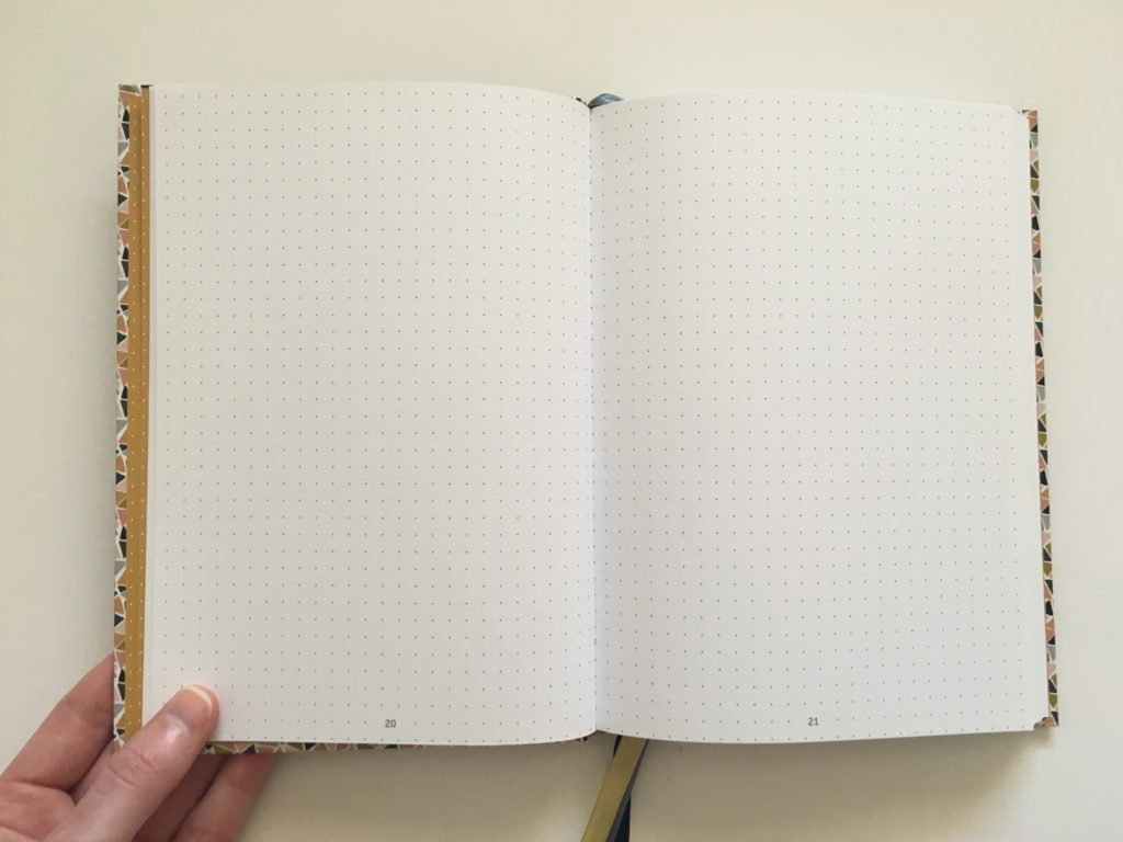 paperstore mujn dot grid notebook for bullet journaling bright white paper 5mm spacing