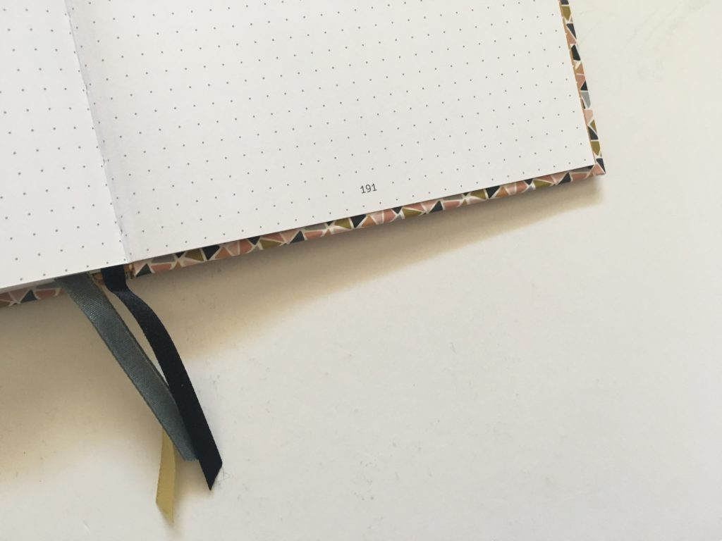 paperstore mujn dot grid notebook for bullet journaling numbered pages
