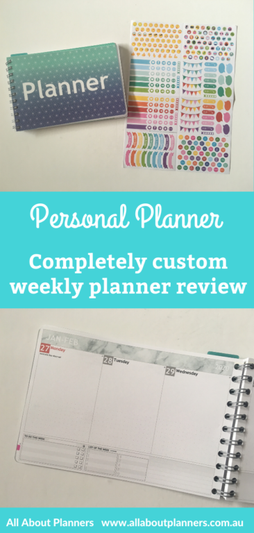personal planner review custom weekly planner dot grid bullet journal notebook personalised vertical horizontal video