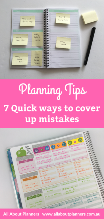 planning tips how to quickly cover up mistakes in your planner or bullet journal simple inspiration organization bujo