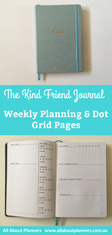 the kind friend journal planner review weekly and dot grid pages hybrid planner and bullet journal undated