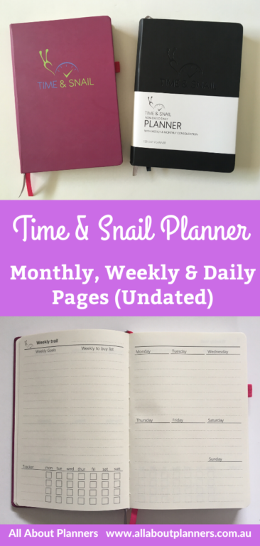 time and snail planner review weekly undated 2 page daily monthly weekly video flipthrough