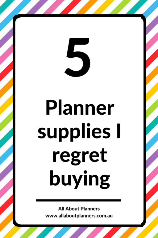 5 planner supplies I regret buying overrated mistakes planner addict all about planners tips inspiration planner newbie