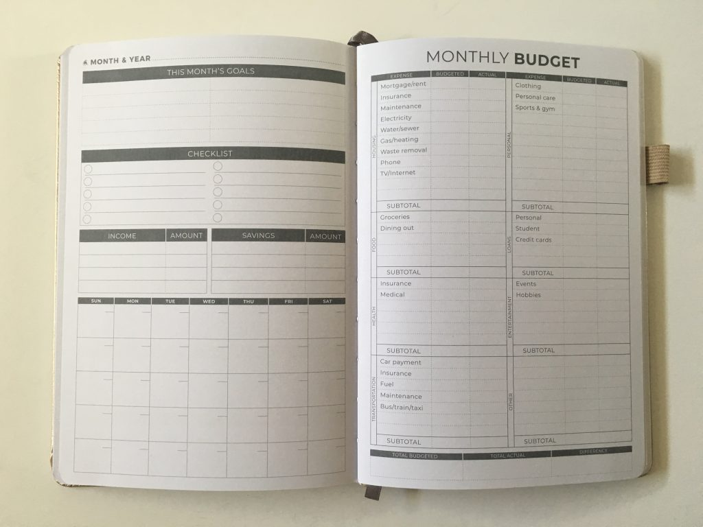 Clever fox budget planner review monthly pre-filled goals spending expenses tracker debt savings goals affordable minimalist video flipthrough pros and cons pen testing_03