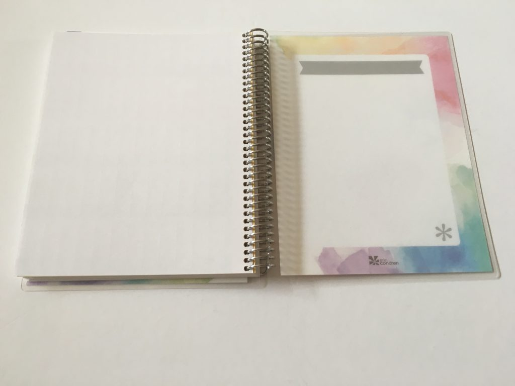 Erin Condren take note notebook personalised review pros and cons paper quality pen testing ghosting bleed through travel map cover medium coiled bound_15