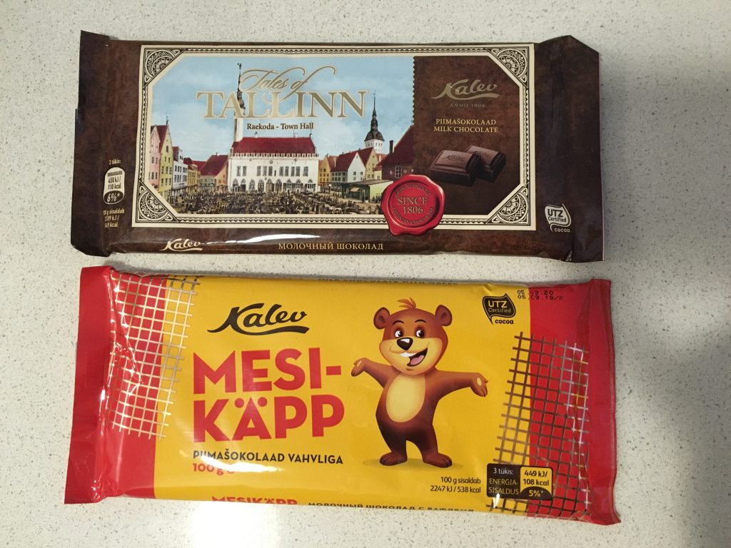 best chocolate in tallin estonia recommended kalev chocolate brand crunch dairy milk 1 euro cheap good