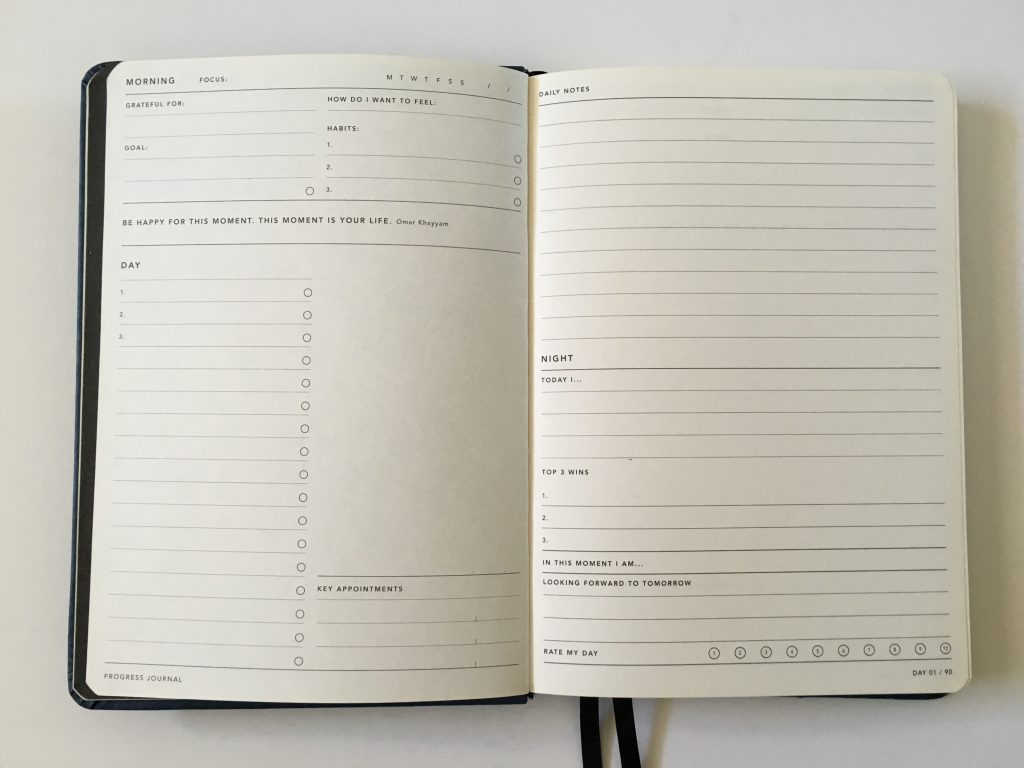 Mi Goals Progress Journal goals planner undated 30 day 60 day 90 day australian project goals blog daily day to a page_13
