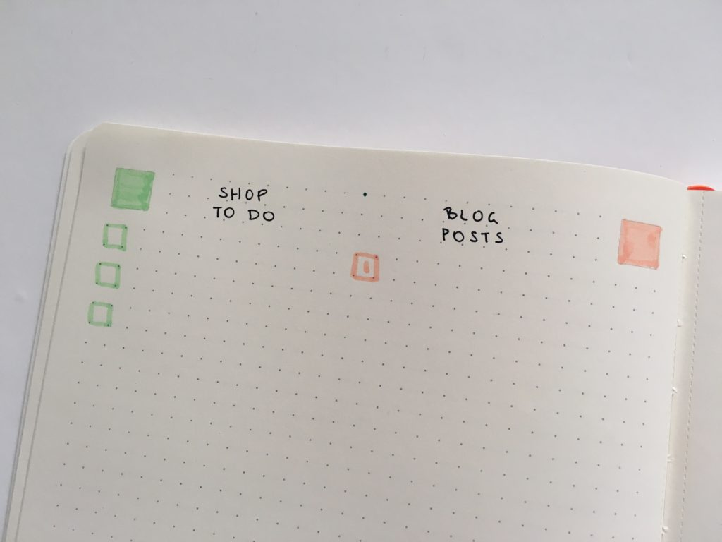 PAIPUR hybrid notebook weekly spread bullet journal dot grid lined notes list maker color coding pastel stabilo boss highlighters_05