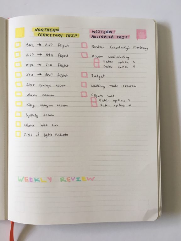 PAIPUR hybrid notebook weekly spread bullet journal dot grid lined notes list maker color coding pastel stabilo boss highlighters_08