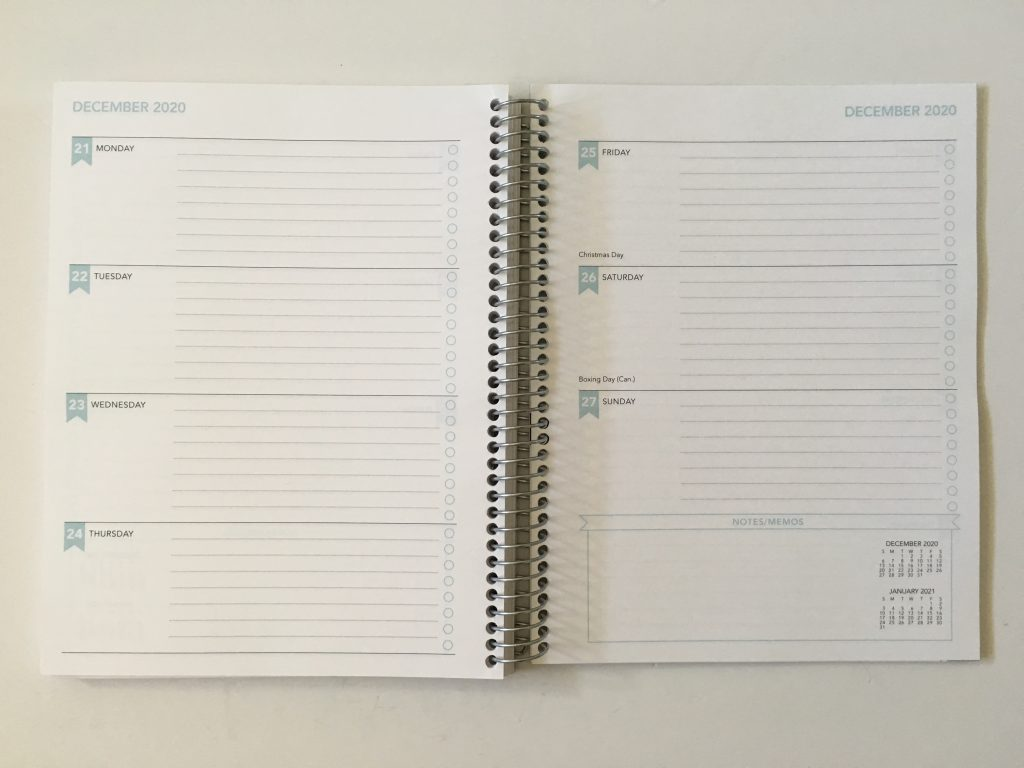 SHP Planner review horizontal weekly lined and unlined personalised custom cover simple minimalist colorful coil bound canadian alternative to plum paper erin condren_14