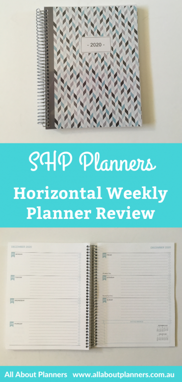 SHP Weekly planner review horizontal monday week start pros and cons pen testing video walkthrough