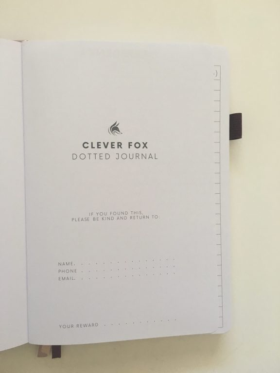 clever fox dotted journal notebook review dot grid notebook sewn bound bright white paper rose gold cover affordable no ghosting bleed through paper_13