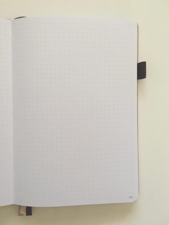 clever fox dotted journal notebook review dot grid notebook sewn bound bright white paper rose gold cover affordable no ghosting bleed through paper_17