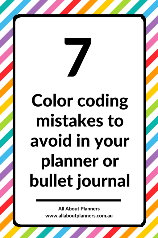 color coding mistakes to avoid in your planner or bullet journal tips ideas inspiration