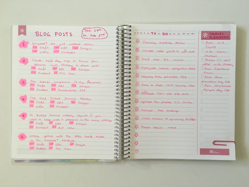 Pink Themed Weekly Spread In My Erin Condren Personalised Notebook All About Planners