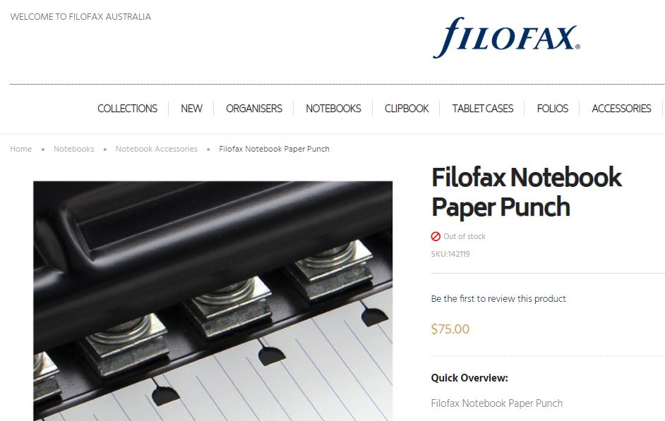filofax notebook punch refillable