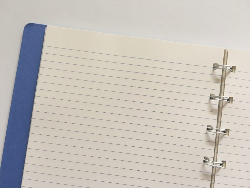 filofax refillable notebook review add remove rearrange pages similar to discound saffiano collection divider tabs lined cream paper pen testing a5 page size_17