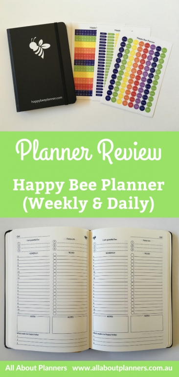 happy bee planner review pros and cons video flip through vertical 5am staart day to a page work and personal monthly yearly annual