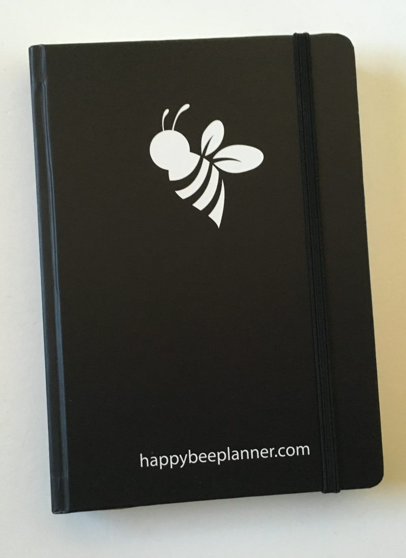 happy bee planner review weekly monthly undated vertical hourly layout 5am to 11pm schedule lined monthly calendar video flipthrough_02